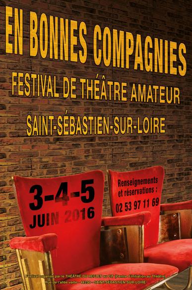 Affiche festival En bonnes compagnies - théâtre amateur